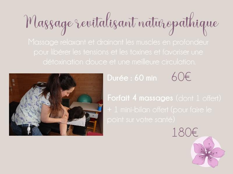 Tarif massage revitalisant