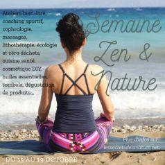 Semaine Zen et Nature du 15 au 19 octobre 2019