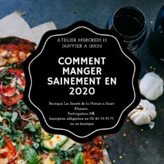 Atelier «manger sain en 2020» mercredi 15 janvier à 18h30
