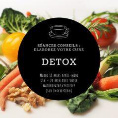"""Séances conseils """"Elaborez votre cure DETOX"""" mercredi 18 mars après-midi"""