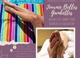 """Journée massages """"Belles gambettes"""" mercredi 9 septembre"""
